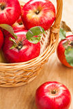 Fresh apples in basket Royalty Free Stock Photography