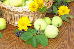 Fresh apples in a basket Royalty Free Stock Photo
