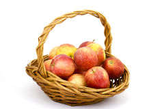 Fresh apples in a basket Stock Photo