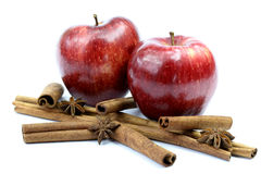Fresh apples and cinnamon Stock Photo