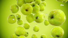Fresh apples falling. Food concept. Slow motion. Isolate with alpha stock video footage