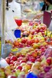 Fresh apples on a farmer`s market, healthy food, fruit, selectiv royalty free stock photo