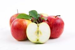 Fresh apples with half Stock Photo
