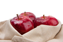 Fresh apples isolate on white. Background Royalty Free Stock Image