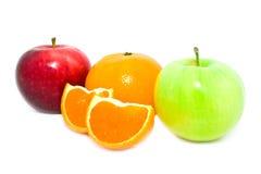Fresh apples and mandarine Royalty Free Stock Photo
