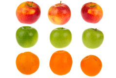 Fresh apples and oranges Royalty Free Stock Image