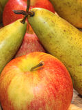 Fresh Apples and Pears Stock Images