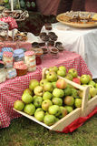 Fresh apples and preserves Stock Images