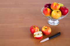Fresh apples on a table Royalty Free Stock Image