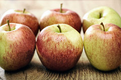 Fresh apples with waterdrops Royalty Free Stock Images