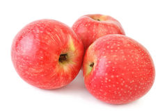 Fresh apples on white Royalty Free Stock Images