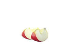Fresh apples on white Royalty Free Stock Image