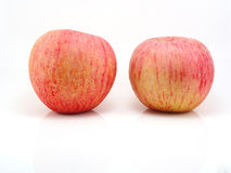 Fresh apples on white Royalty Free Stock Photos