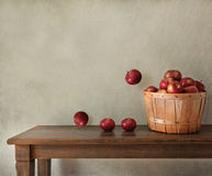Fresh apples on wooden table Royalty Free Stock Images