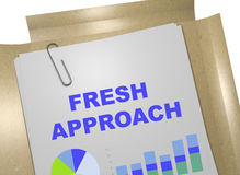 Fresh Approach concept. 3D illustration of `FRESH APPROACH` title on business document Royalty Free Stock Photos