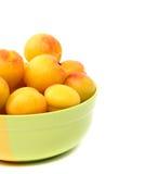 Fresh apricot on a bowl Stock Photo