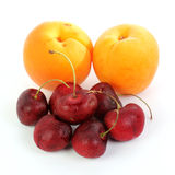 Fresh Apricot and Cherry Royalty Free Stock Image