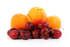 Fresh Apricot and Cherry Royalty Free Stock Images