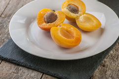 Fresh apricot cut Royalty Free Stock Photo