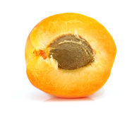 Fresh apricot fruits cut isolated Royalty Free Stock Images