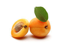 Fresh Apricot and Half Apricot Stock Photos