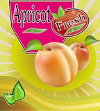 Fresh apricot juice Banner Royalty Free Stock Photos