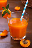 Fresh apricot juice Stock Photography