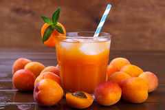 Fresh apricot juice Royalty Free Stock Photography