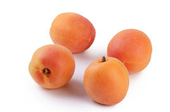 Fresh apricot with a leaf Royalty Free Stock Photo