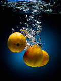 Fresh apricot in water Royalty Free Stock Images