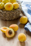 Fresh apricots Stock Photos