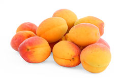 Fresh apricots. Isolated on white Royalty Free Stock Images