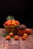 Fresh Apricots And Apricot Jam Royalty Free Stock Images