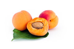 Fresh apricots isolated Royalty Free Stock Image