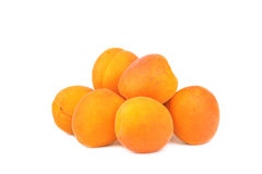Fresh apricots isolated on a white. Background Royalty Free Stock Photo