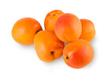 Fresh apricots isolated on white background Royalty Free Stock Images