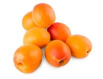 Fresh apricots isolated on white background Stock Photos