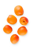 Fresh apricots isolated on white background Stock Photo