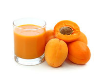Fresh apricots and juice Royalty Free Stock Photo