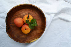 Fresh apricots on the plate Royalty Free Stock Image