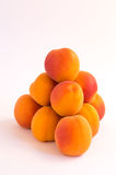 Fresh Apricots in Pyramid Shape Stock Photo
