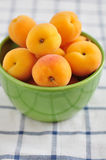 Fresh Apricots. Some cut in half Royalty Free Stock Photo