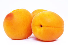 Fresh apricots on white background Royalty Free Stock Photography
