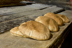 Fresh arabic bread Stock Photos