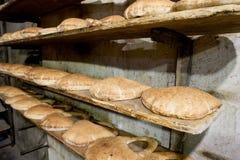 Fresh arabic bread Stock Photography