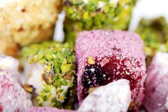 Fresh arabic sweets Stock Images