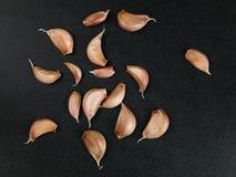 Fresh Aromatic Cloves of Garlic Stock Images