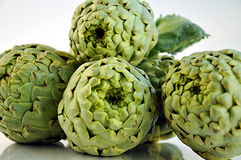 Fresh artichokes. Royalty Free Stock Photo