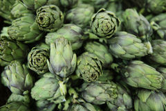 Fresh artichokes at a market Royalty Free Stock Images