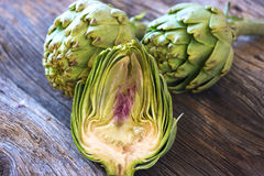 Fresh artichokes Stock Photography